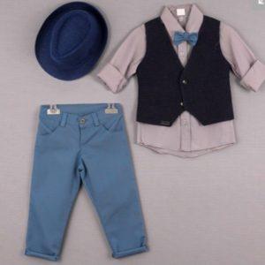 Kοστούμι βάπτισης με μπλε αποχρώσεις
